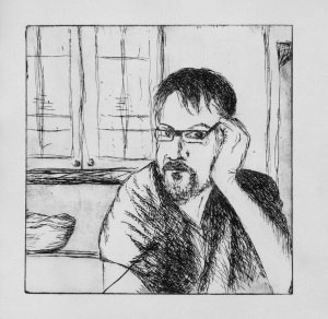 SELF PORTRAIT ETCHING